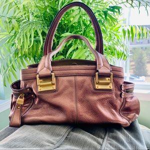 b. Makowsky Pebble Leather Copper Satchel